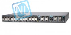 Коммутатор QFX5100, 24 QSFP ports, 2 expansion slots, redundant fans, redundant power supplies, PSU to built in port air flow.