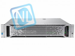 Сервер HP Proliant DL380 Gen9, 1 процессор Intel Xeon 6С E5-2620v3, 16GB DRAM, 8/16SFF, P440ar/2G, 2х300GB SAS(new)