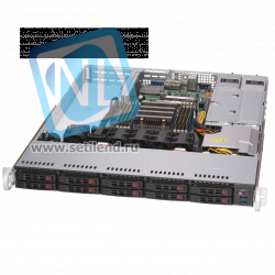 "Платформа Supermicro 1U SYS-1029P-WTR, до одного процессора Intel Xeon Scalable, DDR4, 10x2,5"" HDD SATA, 2x10GBase-T"